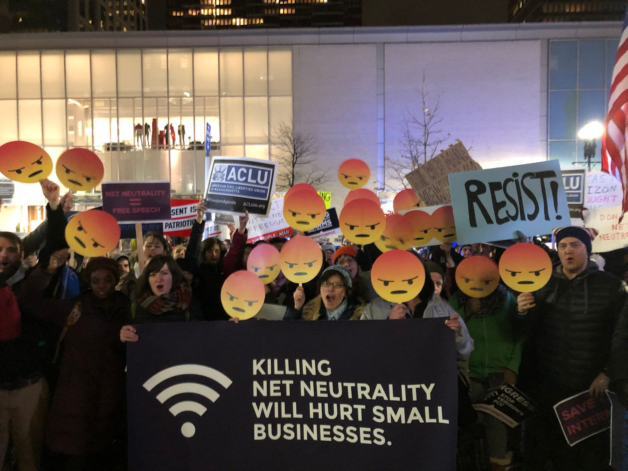 StoptheFCC Team Internet protesters gather in Boston