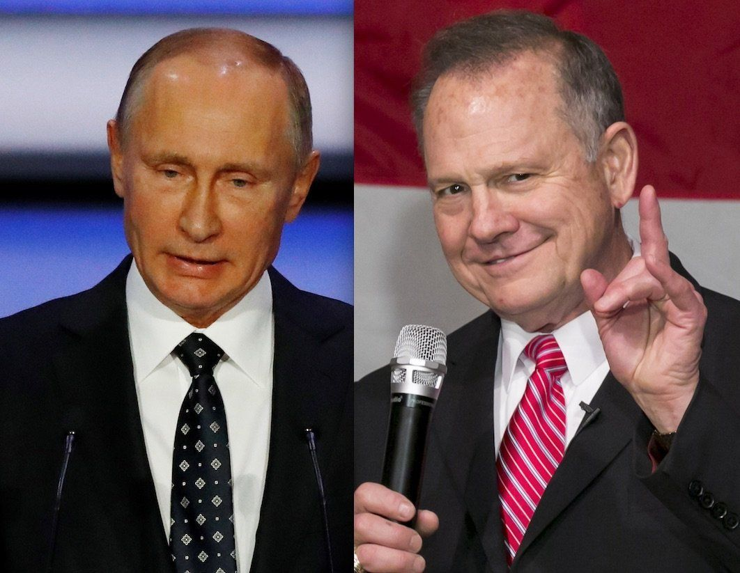Vladimir Putin and Roy Moore