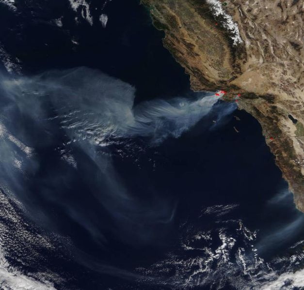 NASA Shares A Shocking Image Of The California Wildfires From