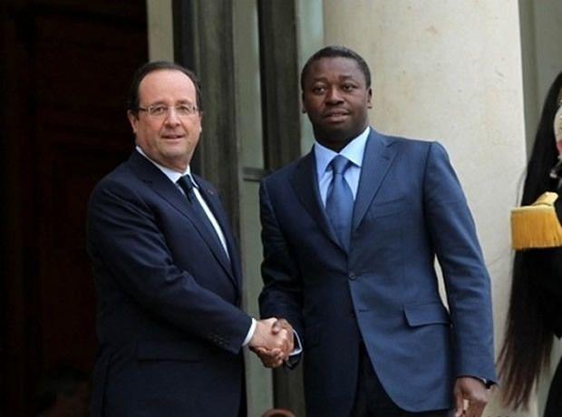 François Hollande and Faure Gnassingbé
