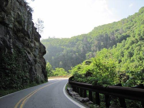 US 64 near Highlands, NC
