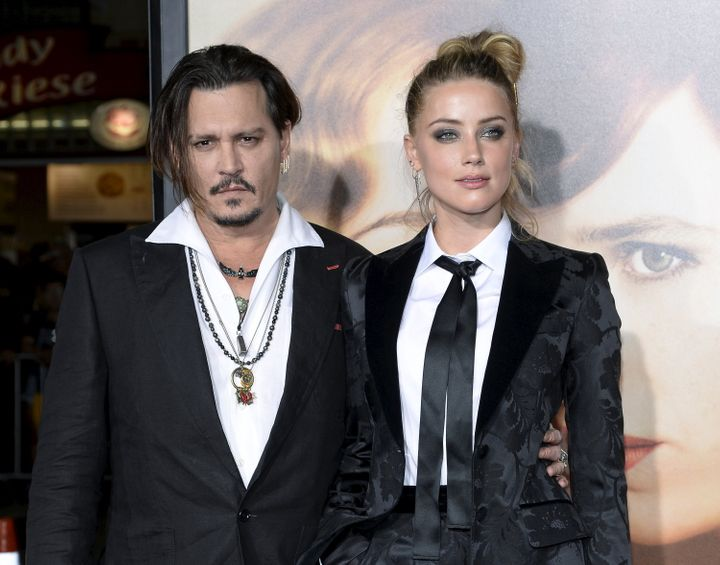 Johnny and Amber in November 2015