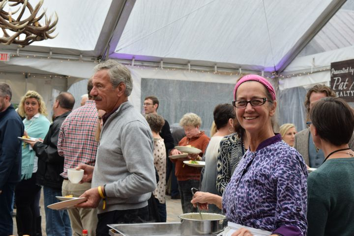 <p>Susan Spicer, Chef/Owner of Bayona in New Orleans at the 2017 Highlands Food & Wine festival</p>
