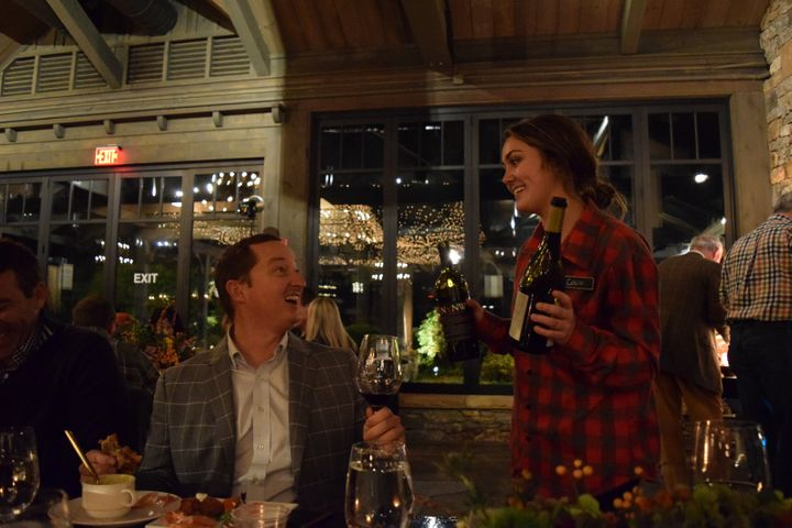 <p>excellent wines and excellent service at the 2017 Highlands Food & Wine festival</p>