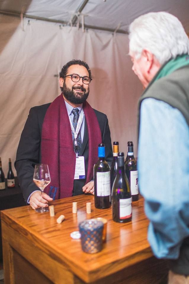 <p>Master Sommelier Eric Cooperman entertains guests at the 2017 Highlands Food & Wine Festival</p>
