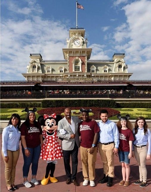 Disney Dreamers Academy with Steve Harvey and Alumni and Mentees at Walt Disney World in 2015.