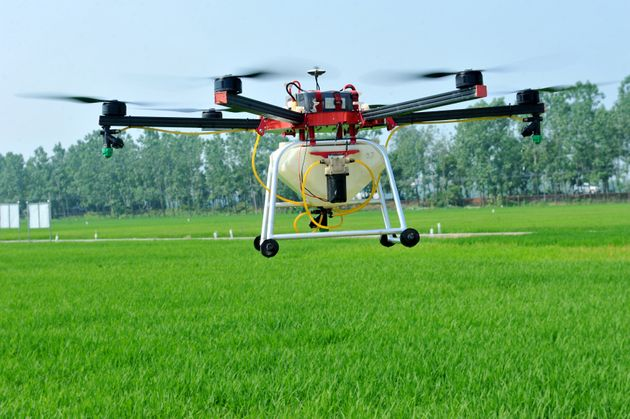 Drones have been used across all industries from policing to this agricultural drone that can spray pesticide...