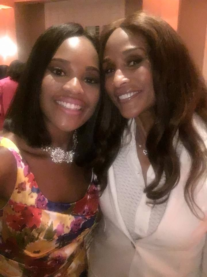 Representing AARP, Ashley N. Johnson is photographed with fashion icon Beverly Johnson at the Links National Assembly