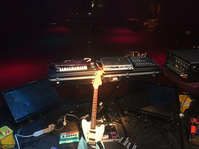 <em>Set-up after soundcheck at Fri-Son, in Fribourg, Switzerland</em>