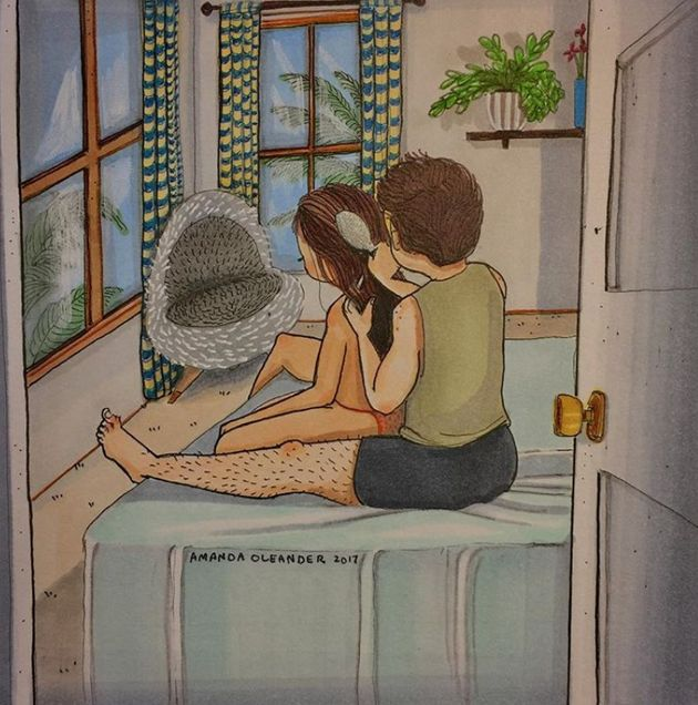 These Drawings Capture What Love Looks Like When Nobody's