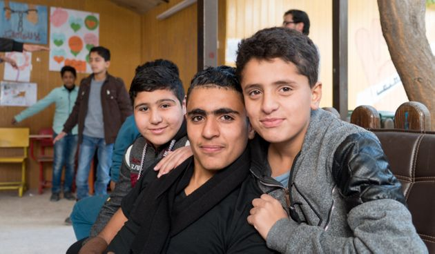Children at the Makani centre in Jordan's