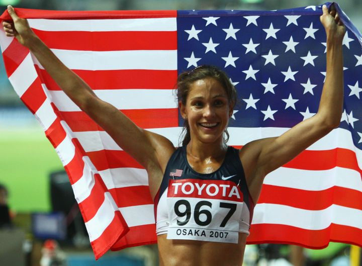 Long-distance runner Kara Goucher thinks Americans need to look at themselves before they crow over others being caught cheating.