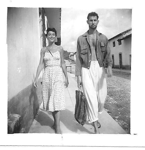 """""""My mom and dad strolling in Puerto Vallarta in 1954, not long after they met. They first saw each other in Mexico, when my d"""