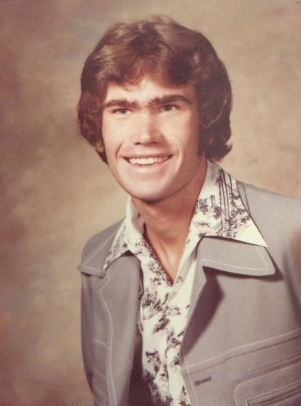 """""""This is my father Randy's high school senior picture, taken in Mt. Gilead, Ohio, in 1979. My dad has always been quite the l"""