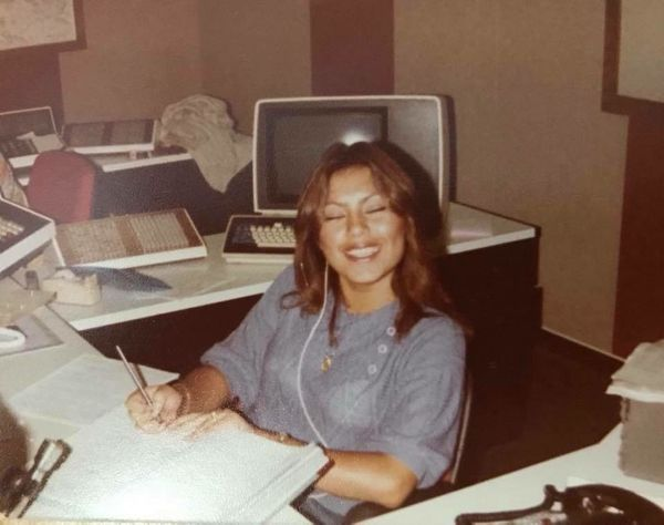 """""""Here's mymomAleydaworking at the Culver City Police Department in Southern California. I just love how it"""