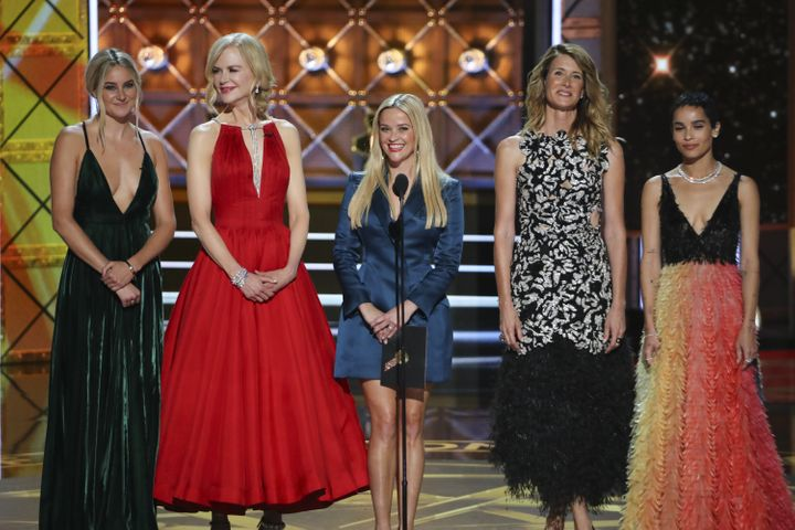 "The cast of ""Big Little Lies"" takes the stage at the Emmys."