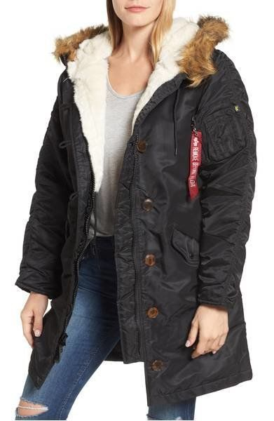 """<strong>Alpha IndustriesElyse Water Resistant Winter Snorkel Parka with Faux-Fur Trim</strong><br><a href=""""https://shop"""