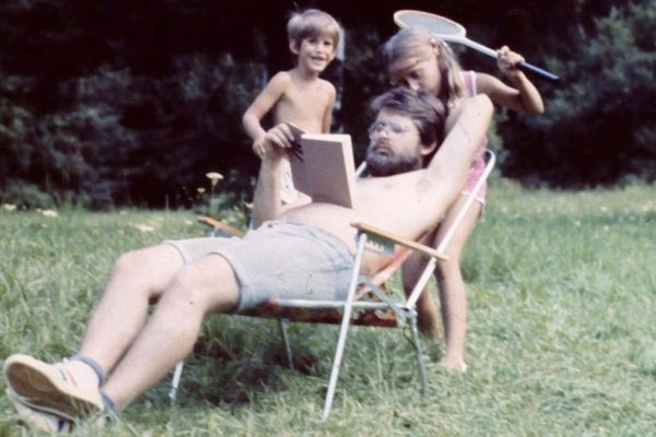 """""""Here's my dad,Bohus Lenicky, casually ignoring me and my sister in the '80s while on a summer holiday!"""" --<i>Mat"""
