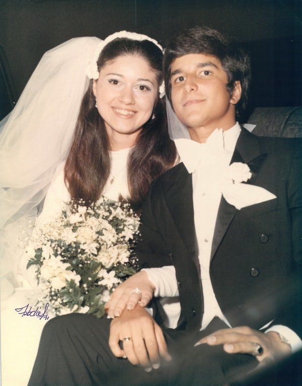 """""""My parents Aleida and Vicente de la Vega were high school sweethearts. They had been 'going steady' for four years before th"""
