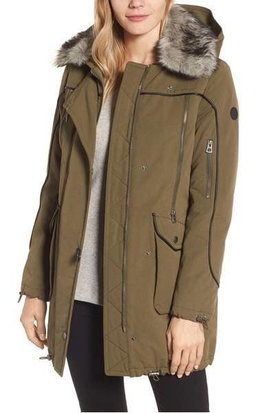 "<strong>Lucky Brand Zip Detail Parka with Faux Fur</strong><br><a href=""https://shop.nordstrom.com/s/lucky-brand-zip-det"