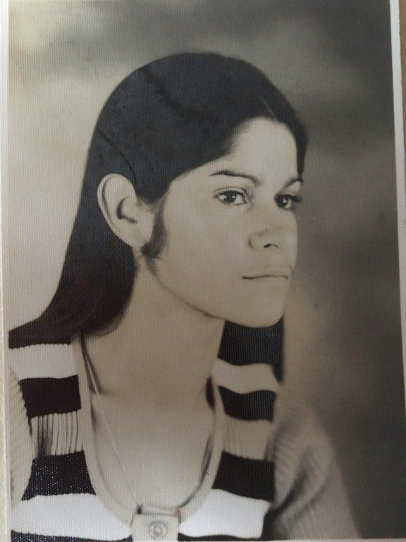 """""""This was taken around 1972 or 1973 in San Jose, Costa Rica, where we are originally from. My mom Carmen was probably about 2"""