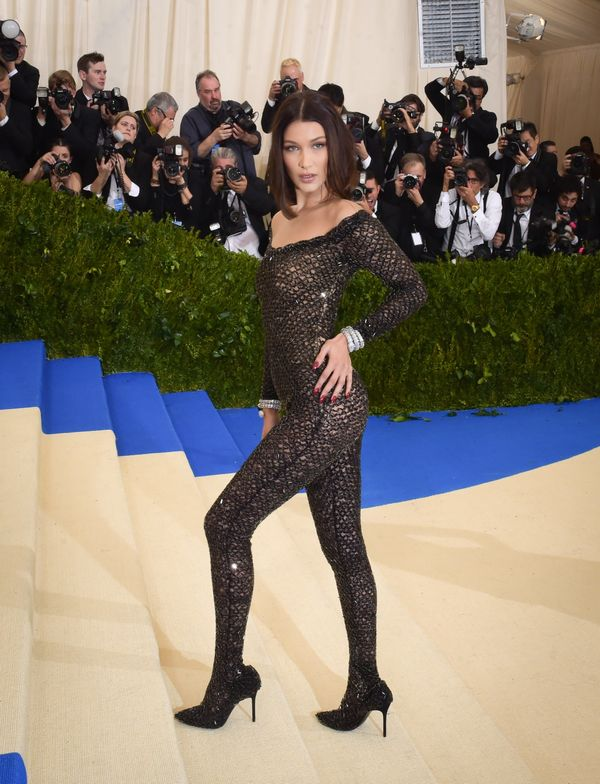 Bella Hadid's sparkling catsuit was definitely one of the more risqué looks at this year's Met Gala, but if anyone has