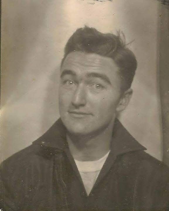 """""""This was taken in 1952, when my dad Richard was 18. I love his expression.... It embodies who he was."""" -- <i>Colleen</i>"""