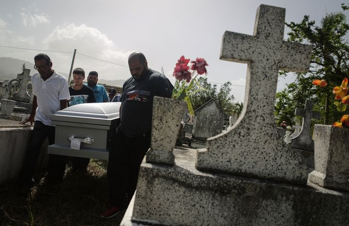 The Puerto Rican government's official Hurricane Maria death toll stands at 62.