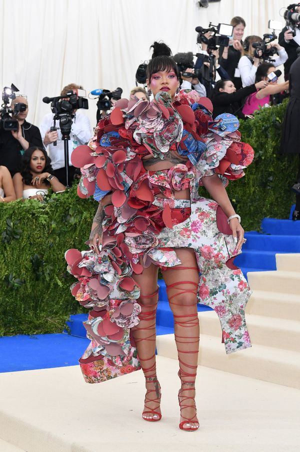 Rihanna's outrageous Met Gala look is definitely one of the year's most memorable. And while it's pretty wild in terms of red