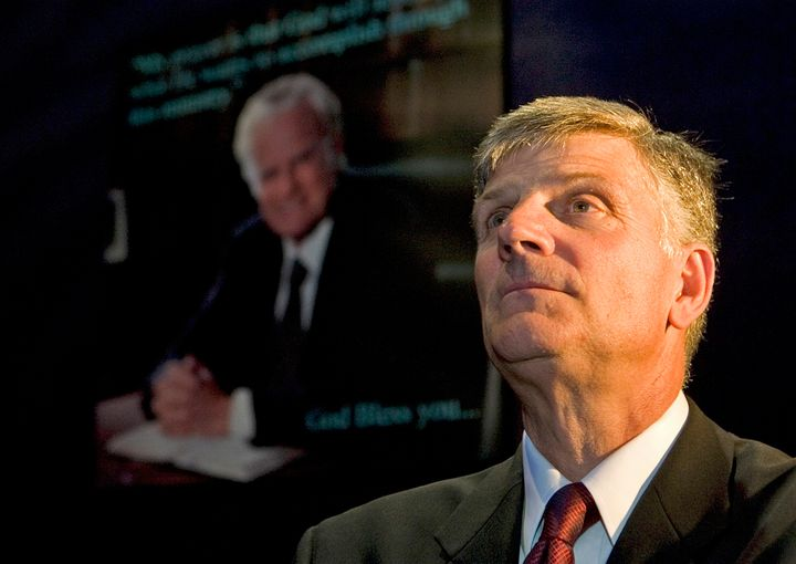 Franklin Graham is the son of the famous evangelist, Billy Graham.