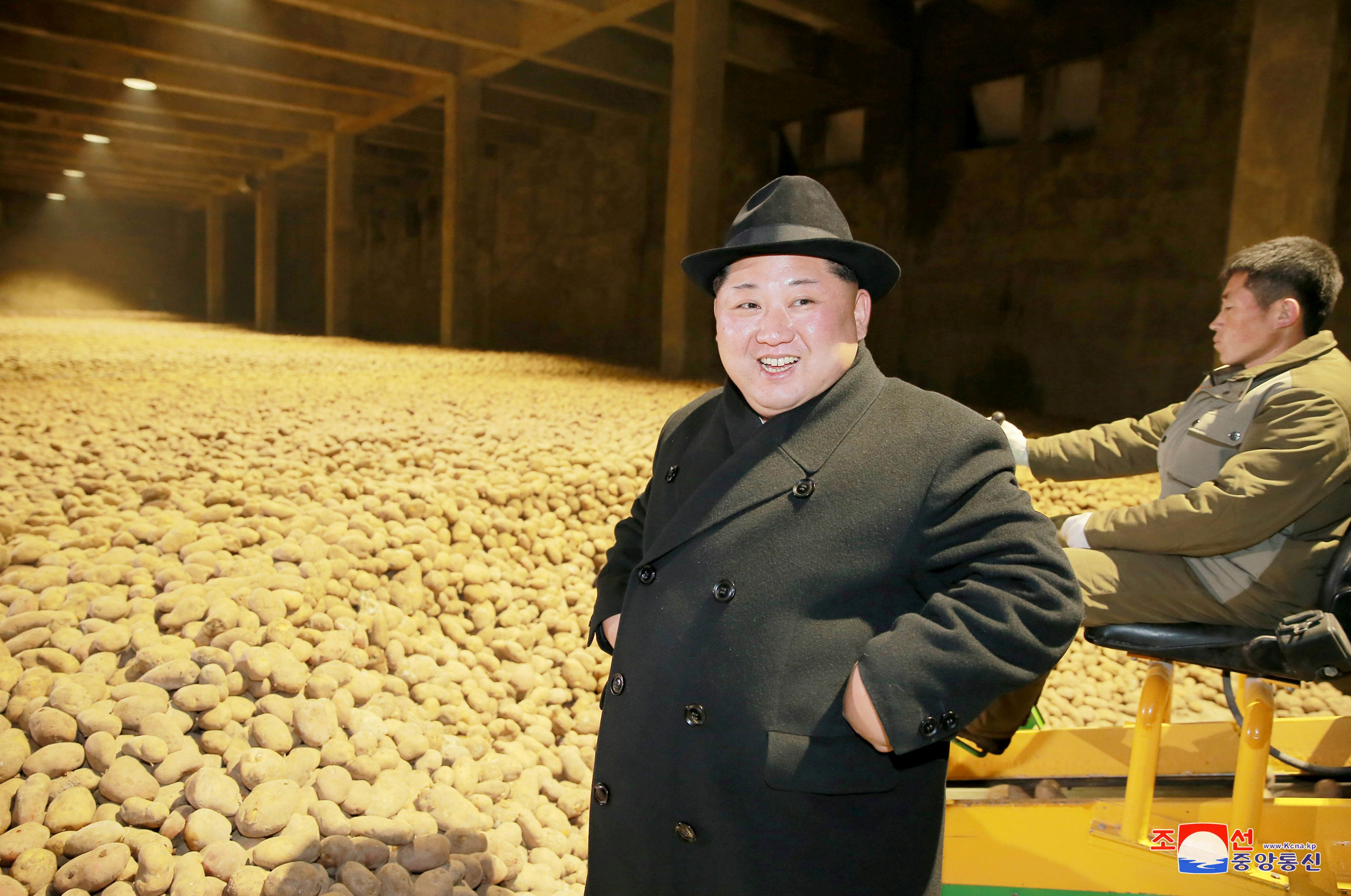 North Korea's leader Kim Jong Un is seen during the inspection of a potato flour factory in this undated photo released by North Korea's Korean Central News Agency (KCNA) in Pyongyang December 6, 2017. KCNA/via REUTERS  ATTENTION EDITORS - THIS PICTURE WAS PROVIDED BY A THIRD PARTY. REUTERS IS UNABLE TO INDEPENDENTLY VERIFY THE AUTHENTICITY, CONTENT, LOCATION OR DATE OF THIS IMAGE. NO THIRD PARTY SALES. SOUTH KOREA OUT.