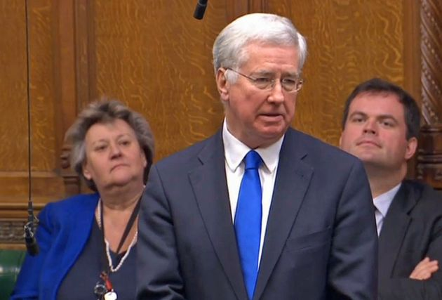 Leadsom wouldn't comment on reports Sir Michael Fallon (pictured) resigned as defence secretary partly...