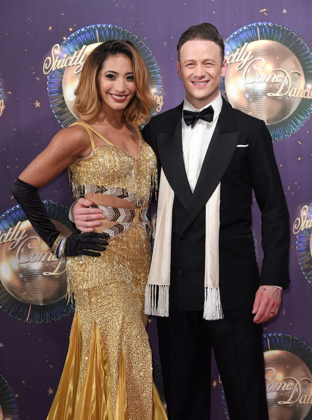 Karen and Kevin Clifton at this year's 'Strictly' red carpet