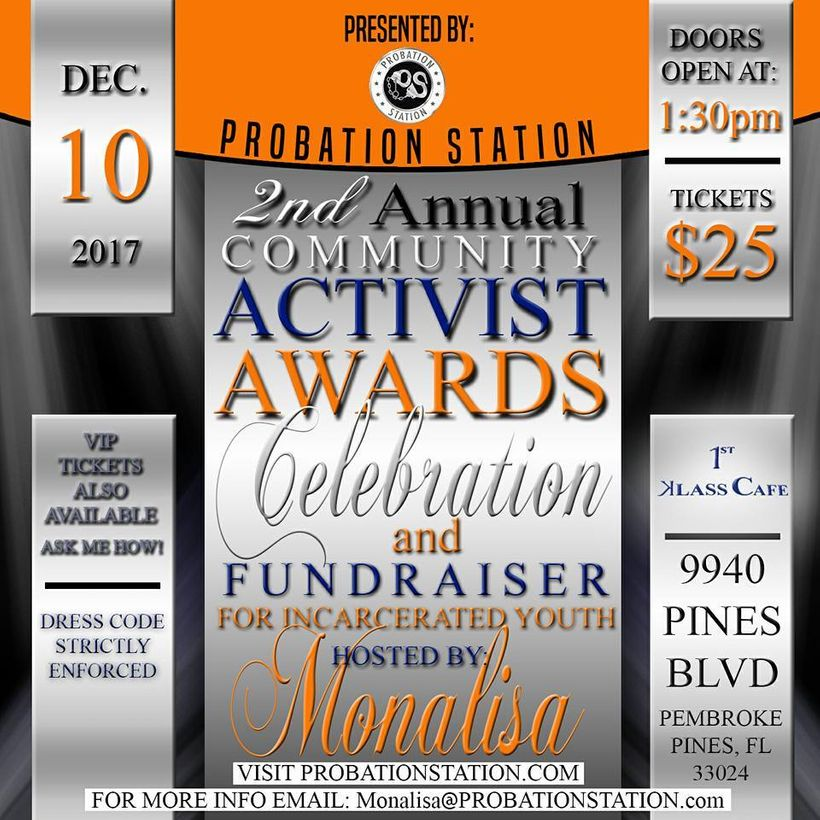 2nd Annual Community Activist Awards & Fundraiser for Incarcerated Youth