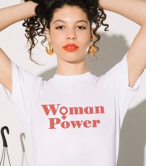 "The Style Club's ""Woman Power"" t-shirt benefitting FCancer"