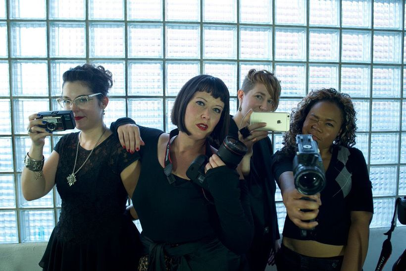 Members of Cinefemme: Jenny Payne, Michelle Kantor, Rory Gory, Lagueria Davis