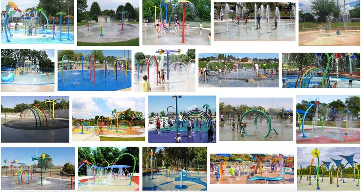 <p>Screen capture of images on Wikipedia page for splash pads.</p>