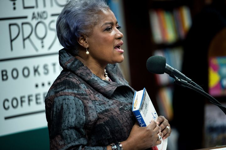 "Donna Brazile, former interim DNC chair, speaks about her book, ""Hacks,"" in November. Brazile's book added to pressure o"