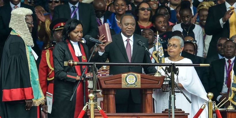"At President Kenyatta's inauguration speech on 28 Nov 2017, he stated, <em>""Over the next 5 years, my Administration will tar"