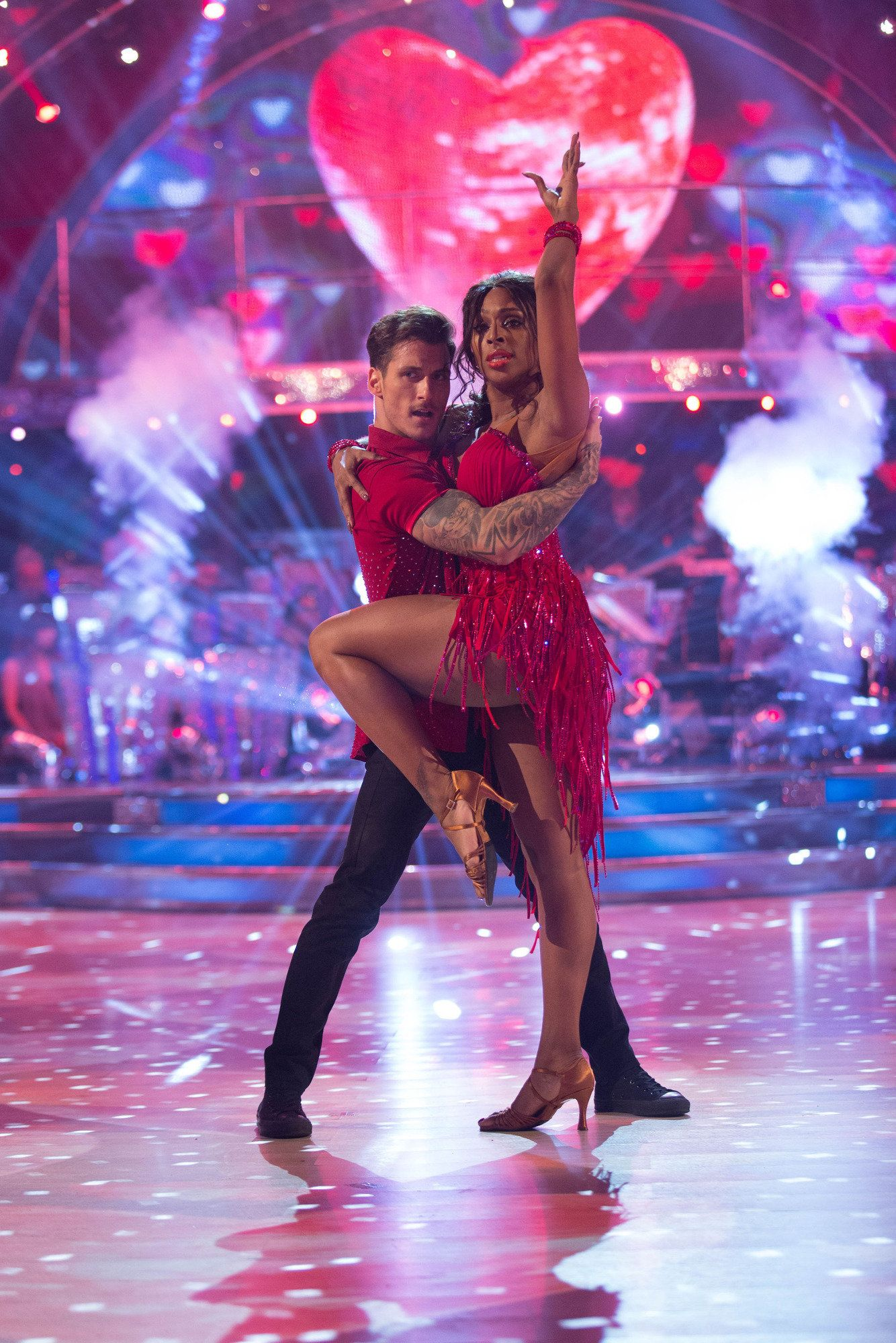 Alexandra Burke Puts Tough Week Behind Her To Bag Perfect Score On 'Strictly Come