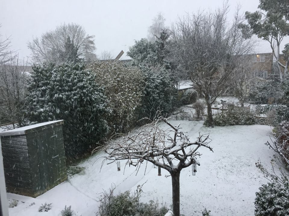 A light fall of snow was seen near the Hertfordshire-Essex border on
