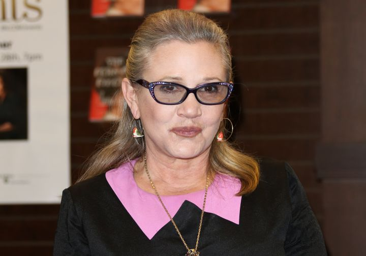 Carrie Fisher in Los Angeles last year about a month before her death.