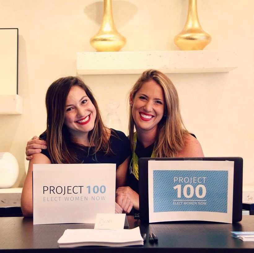 Project 100 Co-founders Isabel Kaplan (left) and Danielle Gram, want to support women running for Congress.