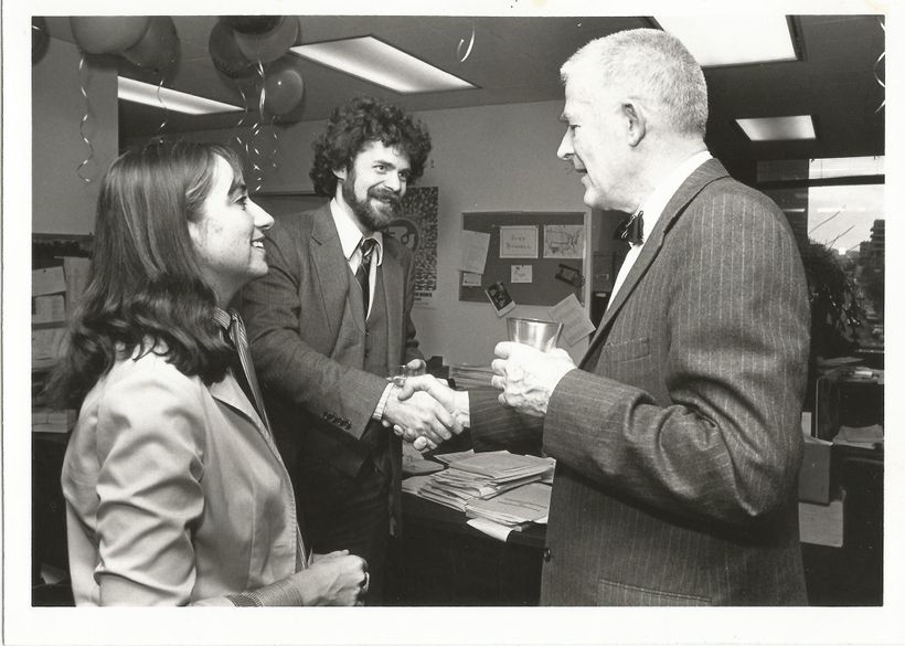 With my husband Bob Sassaman and Common Cause Chairman Archibald Cox in  the mid-1980s.