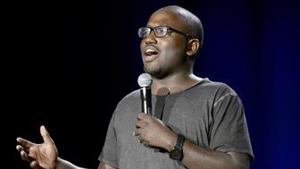 MOUNTAIN VIEW, CA - SEPTEMBER 20: Hannibal Burress performs as part of the The Oddball Comedy & Curiosity Festival at Shoreline Amphitheatre on September 20, 2013 in Mountain View, California. (Photo by Tim Mosenfelder/Getty Images)