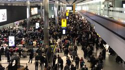 'Carnage' At Heathrow Airport As Snow Causes Cancellations And Long Delays