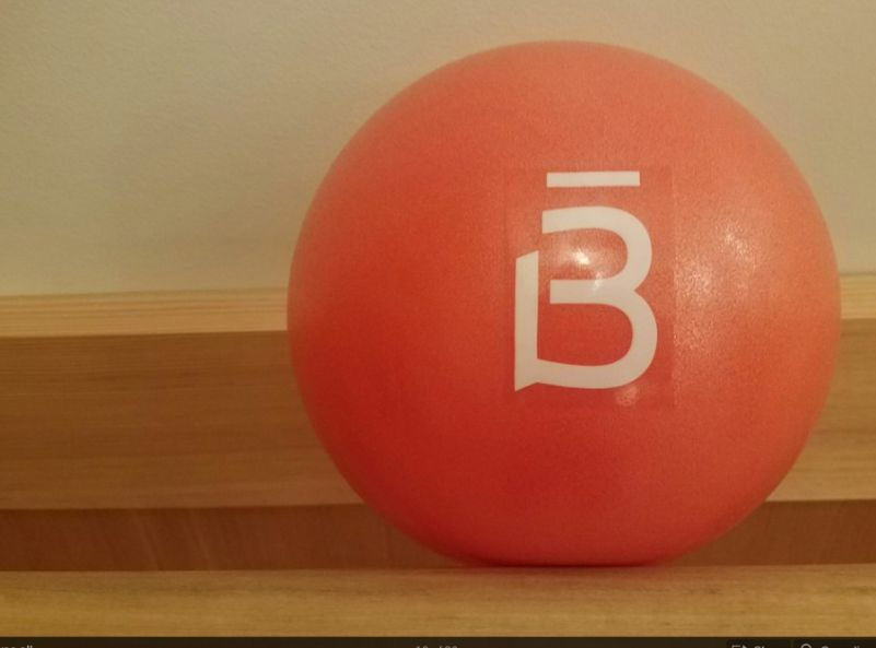 This is the 9 inch ball used for the killer core part of the workout.