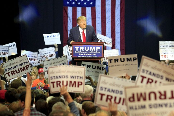 A November 21, 2015 campaign rally where Trump claimed to have watched thousands of American Muslims celebrate 9/11.