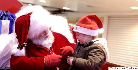 Mum's Touching Shout Out To Santa Who Made Shy Toddler's Experience A Magical One At