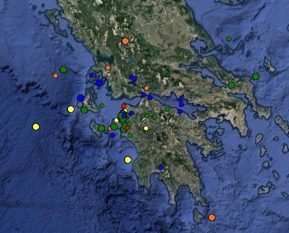 Αυξημένη σεισμική δραστηριότητα από την Κυριακή στη δυτική